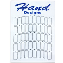 50 Slot Hand Designs Nail Tips Display Board