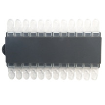 24 Clear Nail Art Display Palette with Removable Tips