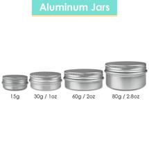 Aluminum Tin Jars with Screwtop Lids - Sizes: (15G, 30G, 60G, 80G)