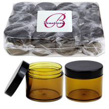 60G/60 ML (2 Oz) High Quality Plastic Amber/Cobalt Cosmetic Sample Jars
