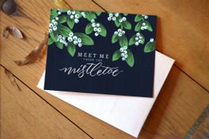 Mistletoe Card- Boxed Set of 8