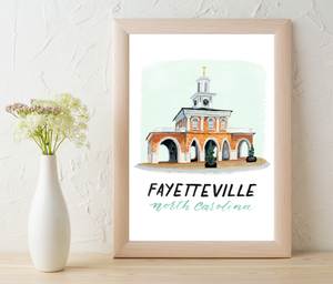 Fayetteville Print by Angela Santos