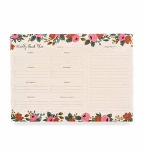 Rifle Paper Co. Rosa Meal Planner Notepad