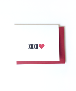 XOXO Letterpress Card