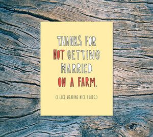 Near Modern Diaster - Farm Wedding Card