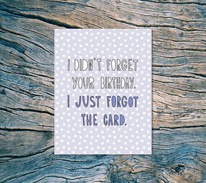 Near Modern Disaster - I Didn't Forget Your Birthday. I Just Forgot The Card