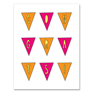Near Modern Disaster Congrats Pennants Card