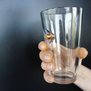 """Bulletproof"" Pint Glass - .45 Cal"