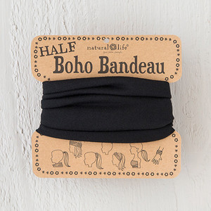 Natural Life Solid Black Half Boho Bandeau