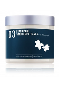 ME! Bath Sugar Scrub Frangipani & Mulberry Leaves
