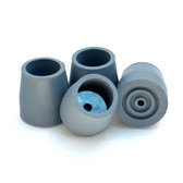 Steel-Reinforced Rubber Tips - Gray - 2 Pairs