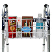 BUNDLE: Premium Wire Walker Basket with Walker Hooks and PlushGrips