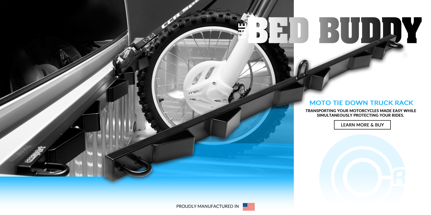 The CCR Sport Bed Buddy Motorcycle Tie Down Truck Rack makes transporting your bikes easy and protects your rides.