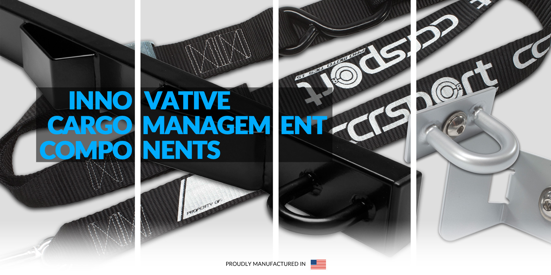 CCR Sport Innovative Cargo Management Components are made with love in America.