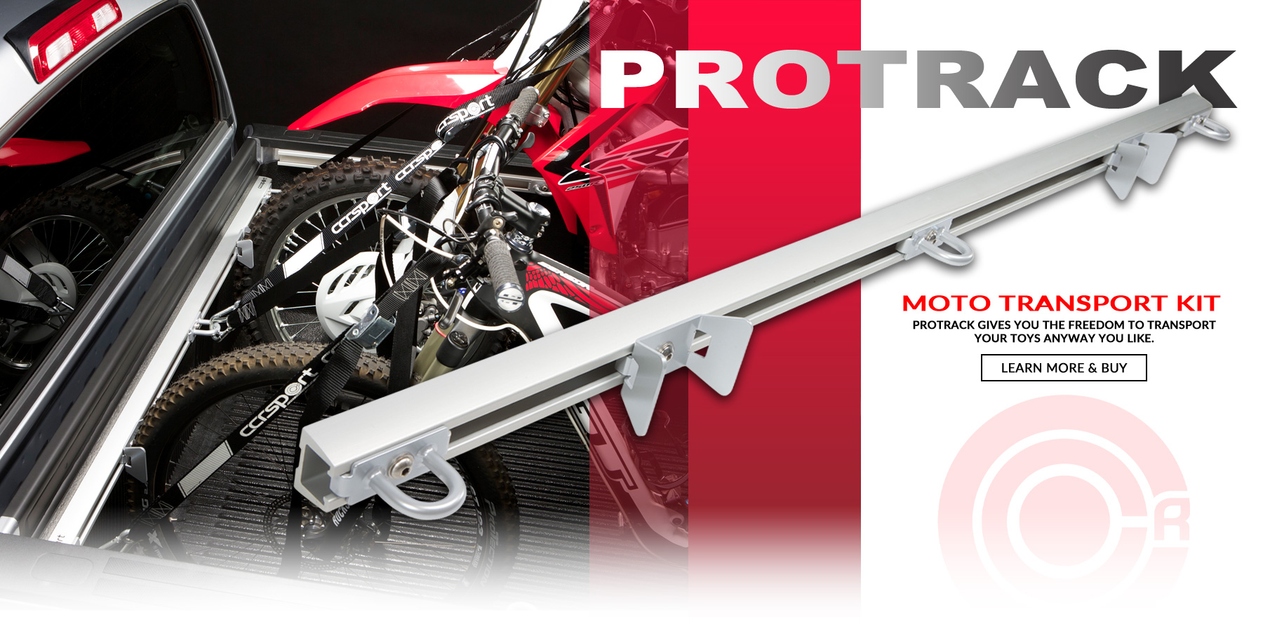 THe ProTrack Moto Transport Kit gives you the dreedom to transport your toys anyway you like.