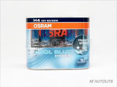 New OSRAM 5000K Cool Blue Hyper CBH H4 Performance Upgrade Bulbs