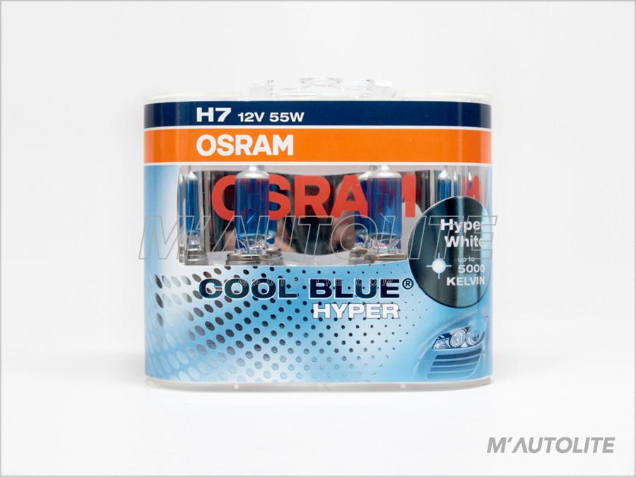 Osram CBH H7 5000K Halogen headlight lamps