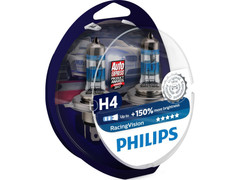 Dual package of Philips Racing Vision halogen bulbs 12342RVS2 H4