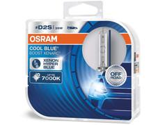 Dual package of Osram Cool Blue Boost HID bulbs 7000K 66240CBB D2S