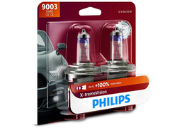 Enclosed package of Philips X-treme Vision +100% H4/9003/HB2