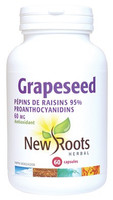New Roots Grapeseed Extract 60 mg, 60 Capsules | NutriFarm.ca
