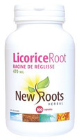 New Roots Licorice Root 470 mg, 100 Capsules | NutriFarm.ca