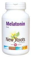New Roots Melatonin 3 mg, 90 Tablets | NutriFarm.ca