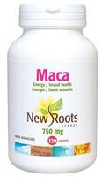 New Roots Maca 750 mg 0.42% macasides, 120 Capsules | NutriFarm.ca