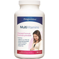 Progressive Multivitimins Prenatal, 60 Vegetable Capsules | NutriFarm.ca
