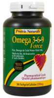Prairie Naturals Omega 3-6-9-Force 1200mg, 180 Softgels | NutriFarm.ca