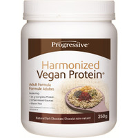 Progressive Harmonized Vegan Protein Natural Dark Chocolate, 350 g | NutriFarm.ca