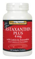 Prairie Naturals Astaxanthin Plus 4mg with Lutein & Zeaxanthin, 120 Softgels | NutriFarm.ca