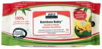 aleva Naturals Bamboo Baby Sensitive Wipes, 72 Wipes