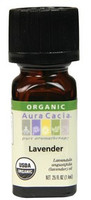 Aura Cacia Lavender Organic Essential Oil, 7.4 ml