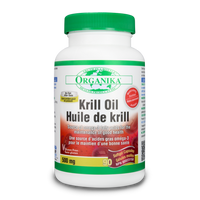 Organika Krill Oil 500 mg, 90 Softgels | NutriFarm.ca