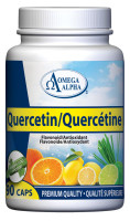 Omega Alpha Quercetin, 90 Vegetable Capsules | Nutrifarm.ca