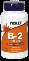 NOW B-2 100 mg, 100 Capsules | NutriFarm.ca