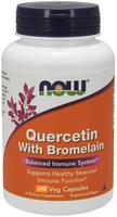 NOW Quercetin with Bromelain, 240 Vegetable Capsules | NutriFarm.ca