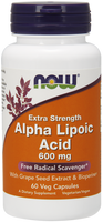 NOW Alpha Lipoic Acid 600 mg, 60 Vegetable Capsules | NutriFarm.ca