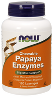 NOW Papaya Enzyme Chewable, 180 Lozenges | NutriFarm.ca