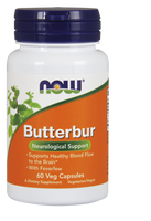NOW ButterBur Extract 75 mg, 60 Vegetable Capsules | NutriFarm.ca