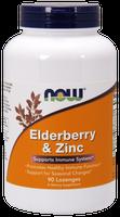 NOW Elderberry and Zinc Plus, 90 Lozenges   NutriFarm.ca