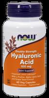 NOW Hyaluronic Acid 100 mg, 60 Vegetable Capsules | NutriFarm.ca