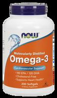 NOW Omega-3 1000 mg, 200 Softgels | NutriFarm.ca