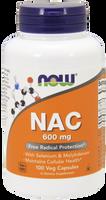 NOW NAC 600 mg, 100 Vegetable Capsules | NutriFarm.ca