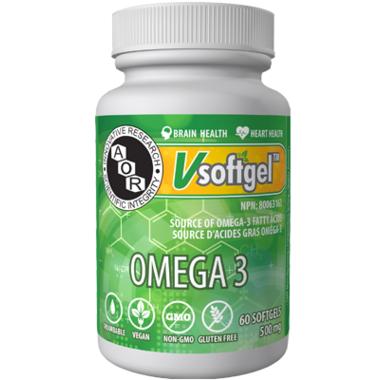 AOR Omega 3, 60 Softgels | NutriFarm.ca