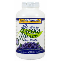 Prairie Naturals Blueberry Greens-Force, 296 g | NutriFarm.ca