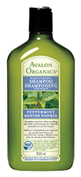Avalon Organics Peppermint Strengthening Shampoo, 325 ml | NutriFarm.ca