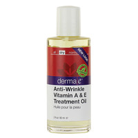 derma e Anti-Wrinkle Vitamin A & E Treatment Oil, 60 ml | NutriFarm.ca
