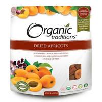 Organic Traditions Dried Apricots, 227 g | NutriFarm.ca